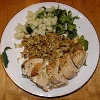 Chicken Breast stuffed with Feta Cheese and Oregano
