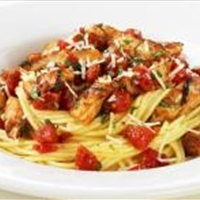 Chicken Fettuccine with Roast Corn