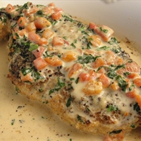 Chicken in Basil Cream (9 pts)