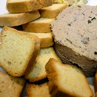 Chicken liver pate with green peppercorns