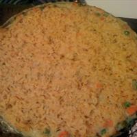 Chicken Pot Pie with Crunchy Brown Rice Crust