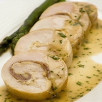 Chicken Rolls with Chardonnay Sauce