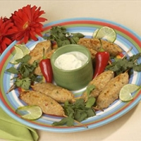 Chicken Satay Sticks with Wasabi Mayonnaise