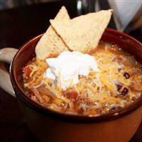 Chicken tortilla crockpot soup