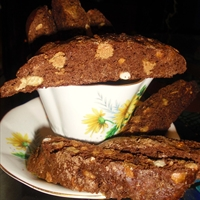 Chocolate and Peanutbutter Chip Biscotti