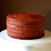 Chocolate Devil's Food Cake with Chocolate Rum Frosting