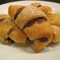 Chocolate Hazelnut Crescents