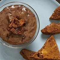 Chocolate mousse with honeycomb