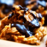 Chocolate Peanut Butter Cornflake Cookies