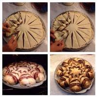 Christmas Nutella bread