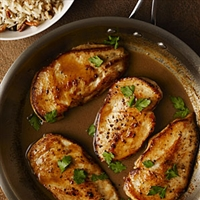 ? Cider-Glazed Chicken with Browned Butter-Pecan Rice