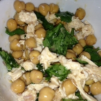 Cilantro Lime Chickpea Salad + protein of choice