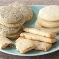 Classic Shortbread Cookies in 4 Ingredients with added 1 ingredient Variati