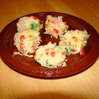 Coconut Cherry Snowballs