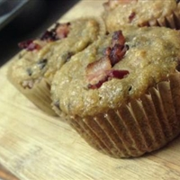 Coconut flour, bacon, banana, chocolate chip muffins