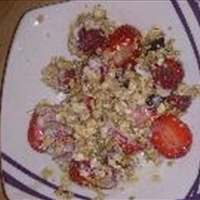 coconut granola with berry's ,yogurt and honey
