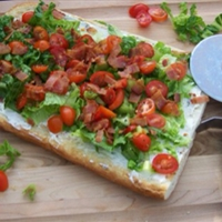 Cold BLT Pizza Appetizer