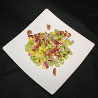 Corn and Edamame Salad with Walnut-miso Dressing