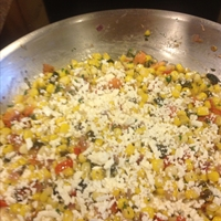 Corn With Roasted Chiles, Creme Fraiche And Cotija Cheese - Bobby Flay