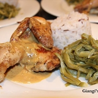 Cornish Game Hen with Whisky and Cream Pan Sauce