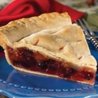 Cranberry Apple Raisin Pie