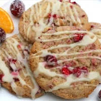 Cranberry Cookies with Orange Glaze