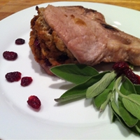 Cranberry Infused Pork Chop