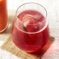 Cranberry Lime Rose Spritzer