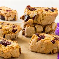 Cranberry Walnut Biscotti (Vegan)