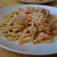 Cream Italian pasta with chicken