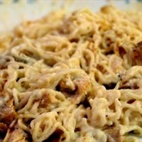 Creamy Sauced Chicken & Noodles