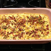 Creamy Cauliflower Casserole with Bacon and Cheddar