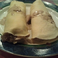 Creamy Chicken and Mushroom Crepes