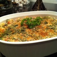 Creamy Seafood And Dill Casserole Over Rice