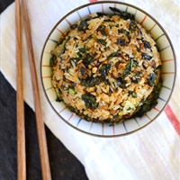 Crispy Kale and Mushroom Fried Rice