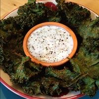 Crispy Kale Chips with Kefir Ranch Dip