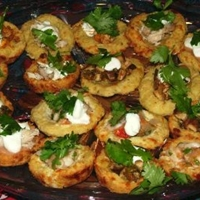 Crispy Potato Sopes (Masa Boats) with Goat Cheese And Her