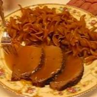 Crock Pot Eye Of Round Roast Beef with Flavorful Gravy