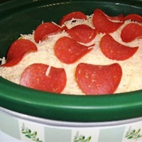 Crockpot Pizza Casserole