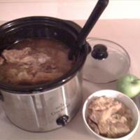 Crockpot Sourkraut and Pork with Apples
