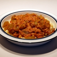 Cucumber and Minced Meat Casserole