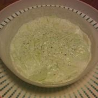 Cucumber-Sour Cream Salad