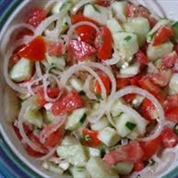 Cucumber-Tomato-Onion salad