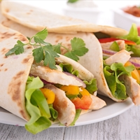 Curry Chicken Wraps with Nectarine-Chutney