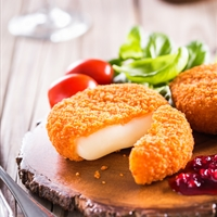 Deep Fried Camembert with Cranberry Sauce