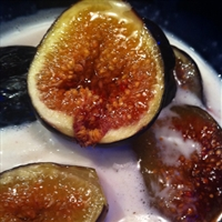 Dessert: Carmelized Figs w Ice Cream