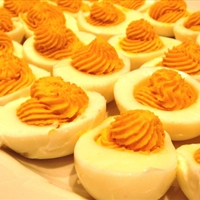 Deviled Sweet Potato Eggs