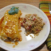 Easy Beef, Bean and Cheese Burritos