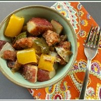Easy Italian Sausage, Potato and Pepper Dinner