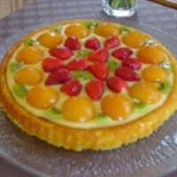Edna's Easy Fruit Sponge Flan Dessert